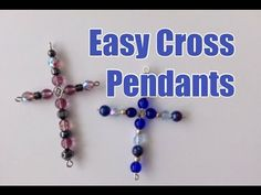 DIY Easy Beaded Cross Pendants Tutorial Inspired by Madonna - YouTube