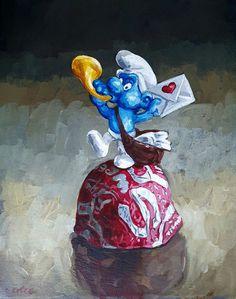 Grace Kotze: Smurf Gift Pack: A Sweet Love: fine art   StateoftheART South African Artists, Art Object, Love Is Sweet, Love Gifts, Limited Edition Prints, Online Art Gallery, Oil On Canvas, Original Artwork, Pop Art