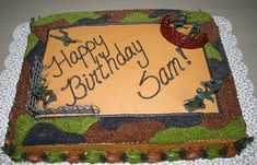 boy scout birthday  cakes for teen boys | photo courtesy of jens creations in reviewing the camouflage cake