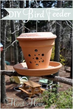 diy bird feeder from a flower pot, crafts, flowers, gardening, repurposing upcycling, Easy and oh so cute spring project