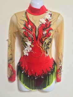 Rhythmic Gymnastics Leotard Handmade Decorated by SprayDress