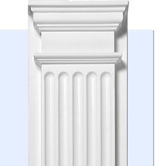 Fluted Pilaster - Door and Window Trim Molding - Inviting Home Front Wall Design, Exterior Wall Design, Gate Design, Door Design, Window Molding Trim, Moldings And Trim, Moulding, Arched Interior Doors, Interior Columns