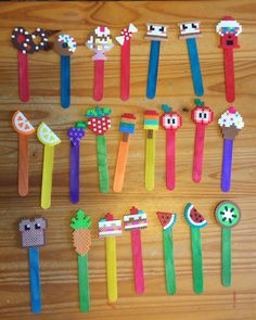 Perler Bead Foodie Bookmarks