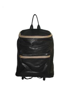 Black Leather Backpack Bag -   Black Leather Backpack Bag Rs. 6,999.00  Availability: In stock      Description     Additional Information     Comments  Body crafted in New Zealand bubble leather  Two adjustable shoulder strap  Sturdy reinforced base  Secured compartment through zip  Shiny Gold hardware  3 pockets inside the bag