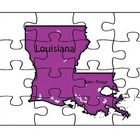 This is a state map puzzle with two reflection pages about what the map looks like and what they notice about it....