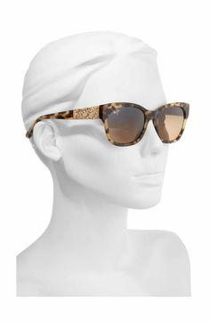 8fb2916da1a Main Image - Maui Jim Monstera Leaf 57mm Polarized Sunglasses Cat Eye  Sunglasses