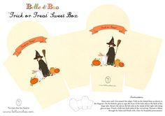 Belle and Boo - Halloween Box Template - FREE PRINTABLE