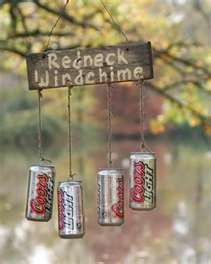 Decor Ideas Idea Box by Sensible Gardening and Living Redneck Beer Can Wind Chime. Really cute idea for a tree near the shed!Redneck Beer Can Wind Chime. Really cute idea for a tree near the shed! Redneck Christmas, Gag Gifts Christmas, Santa Gifts, Holiday Gifts, Christmas Crafts, Xmas, Redneck Crafts, Redneck Party, Hillbilly Party