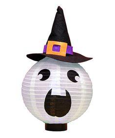 Loving this Ghost Jack-O'-Lantern Paper Lantern on #zulily! #zulilyfinds