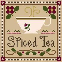 Spiced Tea (with thread) - Cross Stitch Pattern