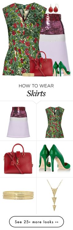 """""""Color Block w/ Floral Top"""" by majezy on Polyvore"""