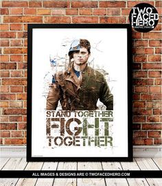 Captain America and Bucky Barnes Art Print Steve by TwoFacedHero