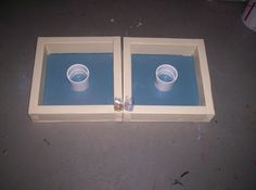 DIY Washer Toss Game ... Use glow in the dark paint for nighttime games. #DIY #Outdoors #Summer #Games