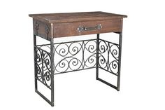 Iron and Wooden Desk