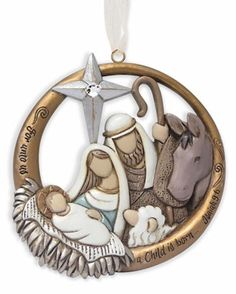 """""""Holy Family Ornament"""" for Legacy of Love by Kim Lawrence - from Fiddlesticks"""