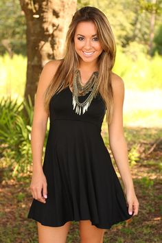 Crush On You Dress: Black