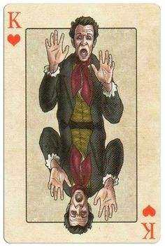 King of hearts Edgar Allan Poe deck of playing cards by Bicycle King Of Hearts Card, Bicycle Playing Cards, Edgar Allan Poe, Heart Cards, Tarot, Deck, Baseball Cards, Cubism, Game Cards