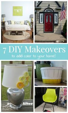7 DIY Makeovers To Add Color To Your Home!