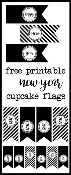 happy new year cupcake toppers