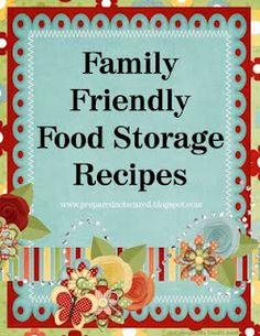 Food Storage Recipes Binder Cover  Prepared Not Scared blog
