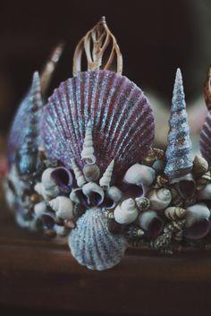 Shell Crowns, Seashell Crown, Mermaid Crown, Mermaid Headpiece, Mermaid Crafts, Sea Witch, Mermaid Tails, Merfolk, Fairy Dust