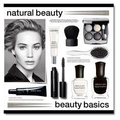 """natural beauty"" by lgb321 ❤ liked on Polyvore featuring beauty, Deborah Lippmann, New Look, NARS Cosmetics, Bobbi Brown Cosmetics, Lancôme, Giorgio Armani, Beauty, beautiful and blackandwhite"