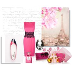 Paris and pink are always good! Parisian Chic, Celebrity Style, Formal Dresses, Board, Polyvore, Fashion Trends, Inspiration, Outfits, Design