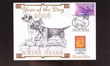 BORDER TERRIER SOUV COVER, 2006 YEAR OF THE DOG STAMP 1