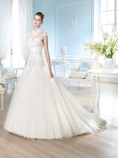Glamour by San Patrick 2014 Bridal Collection (I) Tulle Wedding Gown, Wedding Dresses 2014, Designer Wedding Dresses, Wedding Attire, Bridal Gowns, Bridesmaid Dresses, Wedding Lace, Mermaid Wedding, Prom Dresses