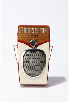 transistor radio @ urban (trust me, this isn't at all what they used to look like, but very retro anyway!)