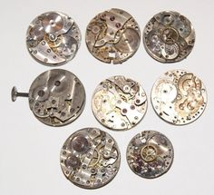 Round Vintage Watch Movements for Steampunk Jewelry and Art