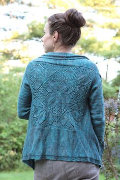 most beautiful hand knit cardi ever. everything about this is amazing, the color, the lace motif, the fit, the design...