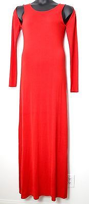 BCBG MAXAZRIA 'Noema' Open Shoulder Bright Poppy Maxi Dress, Size L, NEW