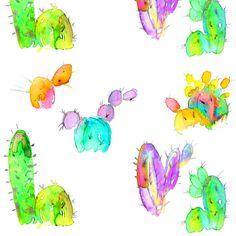 cactus fabric by erinanne on Spoonflower - custom fabric