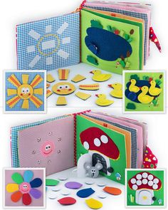 Quiet Book, Busy Book, Eco friendly, educational, fine motor skills toys - 12…