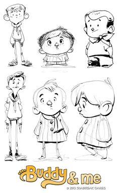 Art by Katy Hargrove: Buddy and Me Kickstarter concepts! | boy
