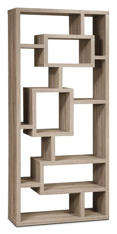 Give your favourite items a stylish home with this unique display cabinet and its incredible showcasing possibilities. Home Office. Living Room Partition Design, Room Partition Designs, Bookshelf Design, Wall Shelves Design, Wall Design, Retail Wall Displays, Diy Furniture, Furniture Design, Office Furniture