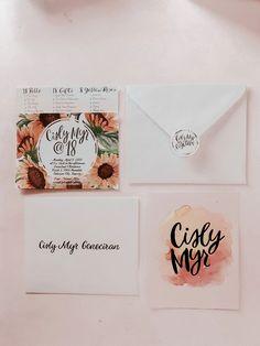 Unique Invitations, Invitation Design, Invitation Cards, Birthday Invitations, Invitation Ideas, 18th Debut Theme, 18th Debut Ideas, Debut Invitation 18th, 18th Birthday Party