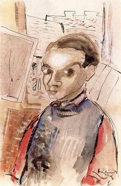 Balint, Endre - 1936 Self-Portrait (Ferenczy Museum, Szentendre, Hungary) Selfies, Self Portrait Art, Art Database, Hanging Art, Fine Art, Drawings, Illustration, Painting, Expressionism