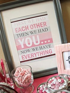 "Photo 47 of 64: Shades of Pink & Gray / Baby Shower/Sip & See ""Danetta's Baby Shower"" 