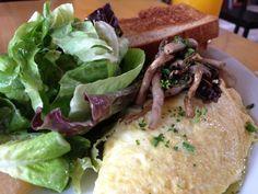 Goat Cheese and Hamakua Mushroom Omelet at Market Fresh Bistro on Maui