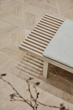 Timberwise Showroom is a minimalist space located in Helsinki, Finland, designed by Studio Joanna Laajisto Showroom Design, Interior Design, Workspace Design, Living Spaces, Living Rooms, New Homes, Flooring, Furniture, Home Decor