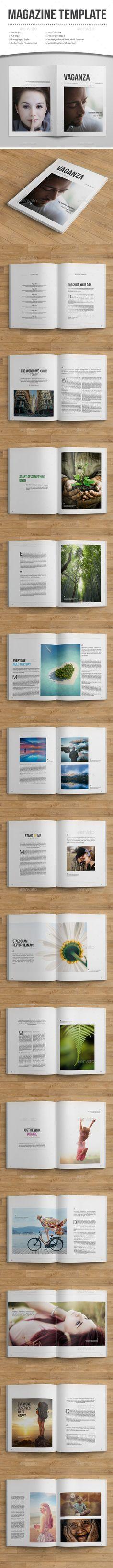 Minimal MagazineTemplate