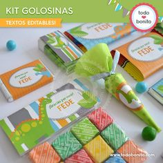 Dinosaurios: ideas para cumples Die Dinos Baby, Dinosaur Birthday Party, Candy Party, Lily, Baby Shower, Alesso, Tableware, Projects, Tobias