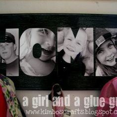 Cute idea - cut out pictures to spell something