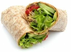 This easy hummus wrap recipe is as good for dinner as it is for lunch. You can use homemade hummus or store-bought; either way, it's made in minutes. Cheap Healthy Lunch, Healthy Wraps, Healthy Eating, Healthy Food, Wrap Recipes, Lunch Recipes, Healthy Recipes, Burrito Recipes, Clean Recipes