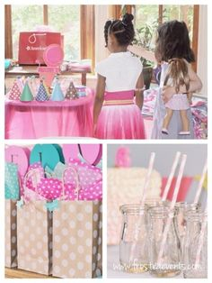 American Girl Doll Birthday Themed Party- Frosted Events   decorations, favors, cake, crafts, printables girls party ideas