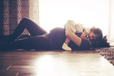Maternity photo with first child. Pregnancy photo with baby bump and sibling.