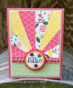 InkyPinkies: Starburst / Sunburst Cards - Birthday & Thank You. Stampin' Up!, Something to Say stamp set. Bday Cards, Happy Birthday Cards, Cute Cards, Cards Diy, Card Sketches, Card Tags, Paper Cards, Greeting Cards Handmade, Scrapbook Cards