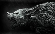 Fenrir was the one that would swallow Odin the Allfather in the dark days of Ragnarok. He even bit and swallowed the hand of god Tyr when Aesir gods tried to tie him down. That is to say, Fenrir was nothing less than a supervillain in Norse mythology [...] Lobo Wallpaper, Batman Wallpaper, Wallpaper Keren, Dark Fantasy, Fantasy Art, Hd Wallpapers For Laptop, Laptop Wallpaper, Wallpapers Android, Hd Desktop